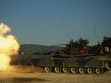 Tanks on the Firing Range at Camp Casey