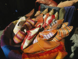Brightly Colored Shoes in the Moroccan Souk