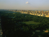 Aerial View of Central Park  an Oasis in Crowded Manhattan