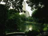 A View of a Pond and Lush Foliage in Central Park; the Pond is in the Southeast Corner of the Park