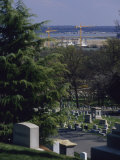 The Pentagon Looms Behind Arlington National Cemetery
