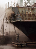 Sandblasters Restore a Soviet Ship at This Shipyard