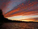 Sunset on Sebago Lake