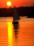Catboat on the Chesapeake Bay at Sunset
