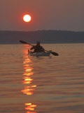 Seakayaking on the Potomac River at Sunset