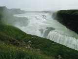 The Double Cascade Waterfall of Gullfoss  by Far Europes Most Powerful Waterfall