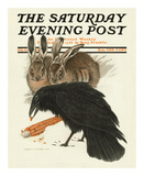 Crow and Rabbits  c1916