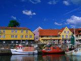 Village Harbour  Svaneke  Bornholm  Denmark