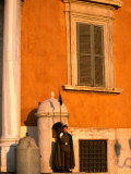 Sentry Standing Guard at Palazzo Del Quirinale  Residence of the Italian President  Rome  Italy