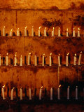 Rows of Candles at Mahabodhi Temple  Bodhgaya  Bihar  India