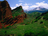 "Red Rocks ""Seven Bulls"" and River  Karakol Valley  Jeti-Oghuz  25KM West of Karakol  Kyrgyzstan"