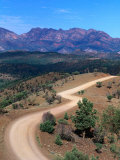 Dirt Road Winding Through Range  Flinders Ranges National Park  Australia