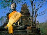 Buddha at Wat Khao Phanom Phloeng  Si Satchanalai-Chaliang Historical Park  Sukhothai  Thailand