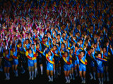 Boys and Girls Dance in Formation During Arirang Mass Games  P'Yongyang  North Korea