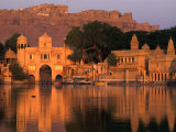 Fort Overlooking Tilon-Ki-Pol and Gadi Sagar at Dawn  Jaisalmer  India