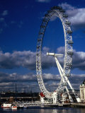 The Millennium Eye and Thames River  London  United Kingdom