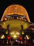 Hotel Lisboa Casino Entrance Lit Up at Night  Macau  China
