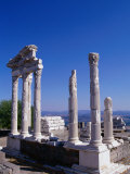 Marble-columned Temple of Trajan  Bergama  Turkey