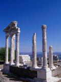 Marble-columned Temple of Trajan  Bergama  Turkey