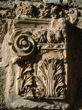 Carved Detail at Antonine Baths  Carthage  L&#39;Ariana  Tunisia
