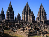Khmer Architecture at Ancient Site of Prambanan  Central Java  Indonesia