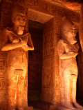 Statues of Ramesses Inside Hypostyle Hall  Abu Simbel  Egypt