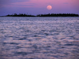 Full Moon at Sunset  Cook Islands