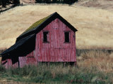 Weathered Wooden Barn in Dry Fields off Highway 128 Near Boonville  California  USA