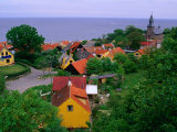 Rooftops Nestled Amongst Trees  Gudhjem  Bornholm  Denmark