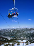Chairlift at Mt Thredbo  Kosciuszko National Park  Australia