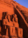 Statues of Ramesses at the Great Temple of Abu Simbel  Abu Simbel  Egypt