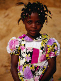 Portrait of Young Girl  Looking at Camera  Sassandra  Cote d'Ivoire
