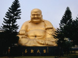 Buddha Statue at Paochueh Temple  Taichung  Taiwan