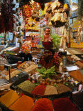 Spice Stall at Misir Carsisi in Eminonu  Istanbul  Turkey