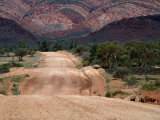 Dirt Road Through Mcdonnell Ranges West Macdonnell National Park  Northern Territory  Australia