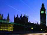 Palace of Westminster and Big Ben Tower  London  England