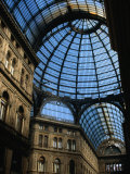 The Iron and Glass Dome of Galleria Umberto I  Naples  Campania  Italy