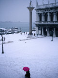 Piazetta of San Marco in Winter  Venice  Veneto  Italy
