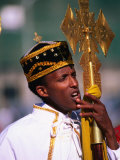 Boy Deacon on Duty at Meskal Festival Wearing Traditional Priestly Garb  Asmara  Eritrea