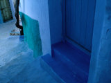 Brightly Painted Village Houses of Chefchaouen  Morocco