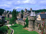 Fortified Walls of Stone  Chateau at Fougeres  Fougeres  France