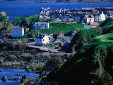 Village on Coldingham Bay  St Abb's  United Kingdom