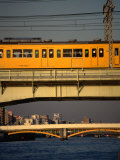 Sobu Train Crossing Sumida-Gawa River  Tokyo  Japan