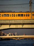 Sobu Train Crossing Sumida-Gawa River  Tokyo  Japan