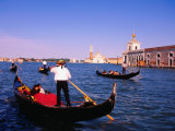 Gondolas in Grand Canal Near St Mark's  Venice  Veneto  Italy