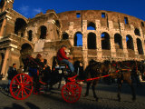 Horse-Drawn Carriage at the Colosseum  Rome  Italy