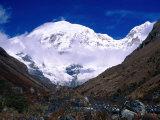Snow-Covered Mountain Peak  Jhomolhari  Bhutan