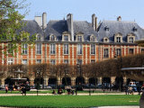 Fountains and Gardens in Front of Place De Vosges  Paris  Ile-De-France  France