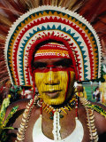 Portrait of Highlander  Port Moresby  Papua New Guinea