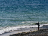 Man Beach Fishing  Baie of Audieme  Finistere  France